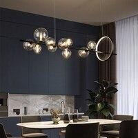 Nordic LED Kronleuchter Blase Decke Anhänger Lampe Für Esszimmer Wohnzimmer Küche Schlafzimmer Moderne Glas Ball Hängen Licht