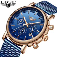 Relogio Masculino 2019 LIGE Fashion Blue Stainless Steel Mens Watches For Men Military Waterproof Quartz Thin Wrist Watch все цены