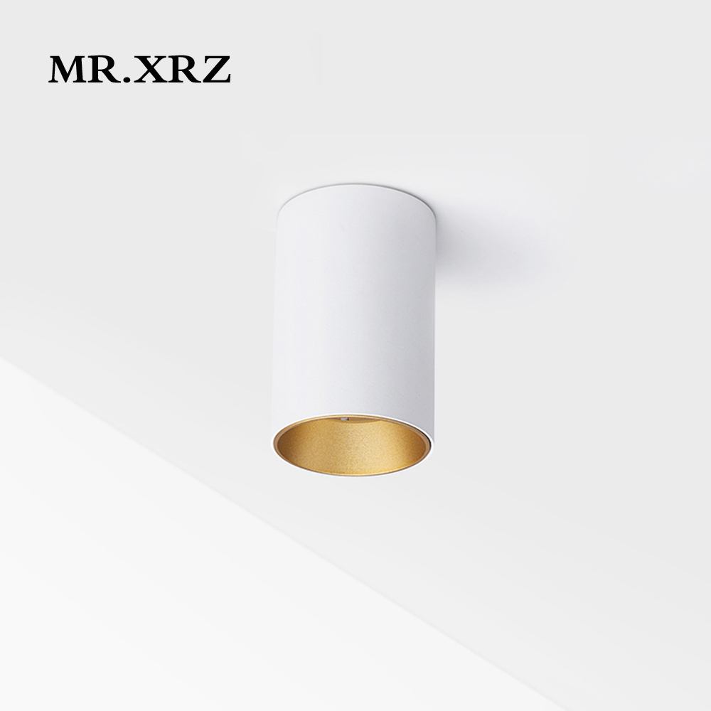 MR.XRZ LED 10W Round Surface Mounted Downlight 220V Led Cob Ceiling DownLight Cree Down Light For COB Kitchen Bedroom Lighting
