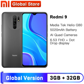 Spain Overseas Xiaomi Redmi 9 3GB 32GB Global Version Smartphone Octa-core Media Tek Helio G80 13MP Rear camera 5020mAh Redmi9 - discount item  21% OFF Mobile Phones