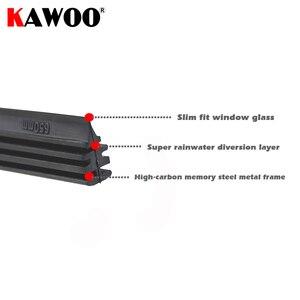 "Image 4 - 2pcs High Quality Boneless Frameless Rubber Car Wiper Blade refill Strips Windscreen 6mm 26""28""30""32"" Windshield car accessories"