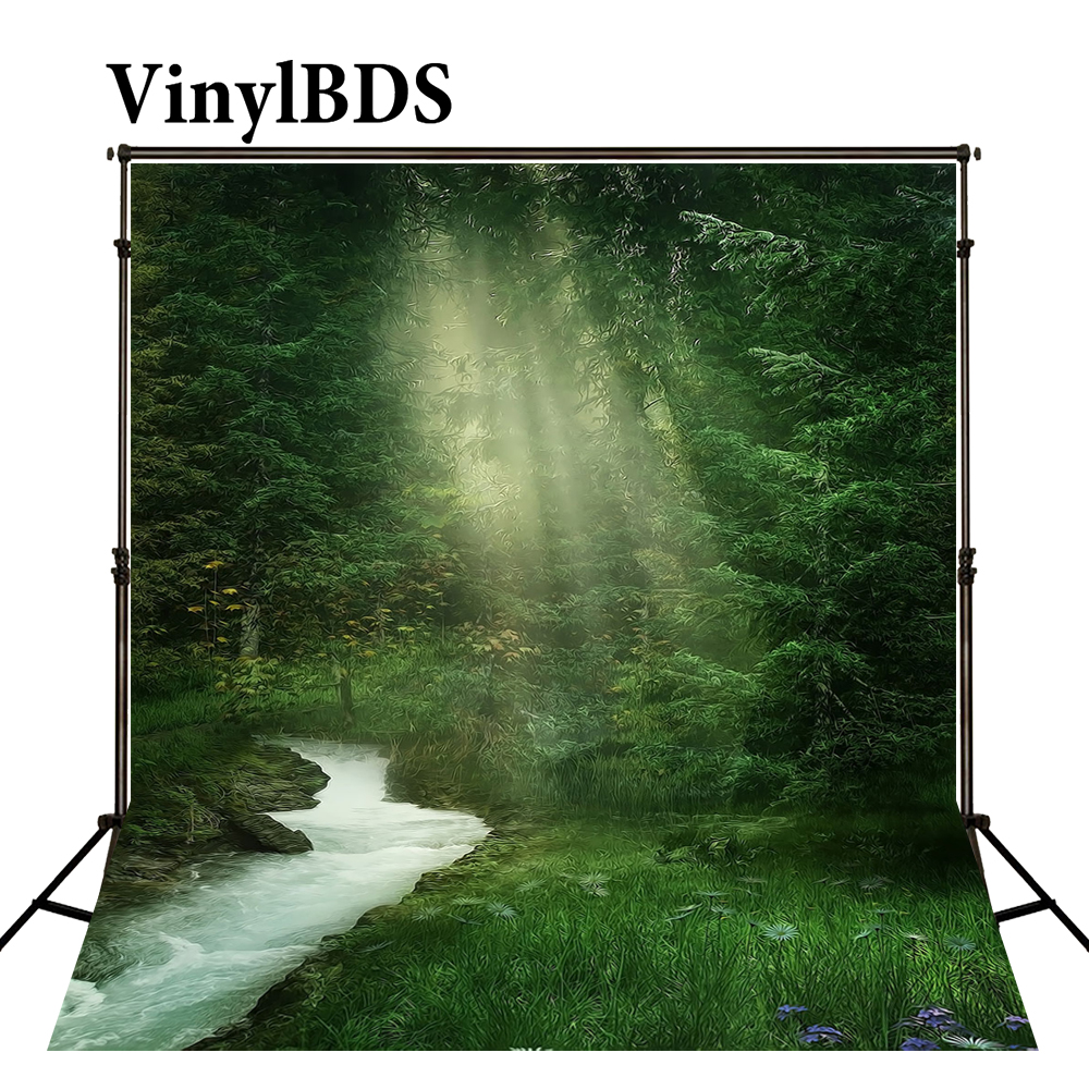 VinylBDS Backdrops 10x10ft Scenic Backdrop Fairy Tale Forest Background Wedding Backdrops Children Background for Studio|forest background|children background|background for studio - title=