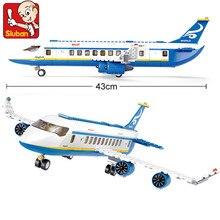 463 個市空港エアバス飛行機飛行機飛行機 brinquedos アビオンテクニックビルディングブロックレンガ教育玩具子供のため