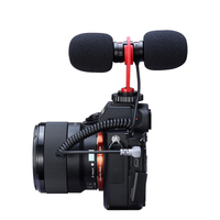 Ulanzi sairen t mic dual-head hypercardioid stereo microphpne interview mic audio vlog mic universal for dslr smartphone