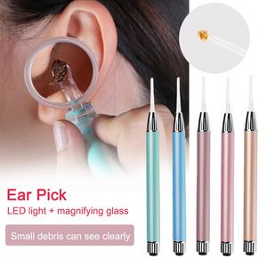 Stainless Steel Light Ear Pick Ear Spoon Shiny Earpick Children Visible Earpick Ear Cleaning Random Health Care