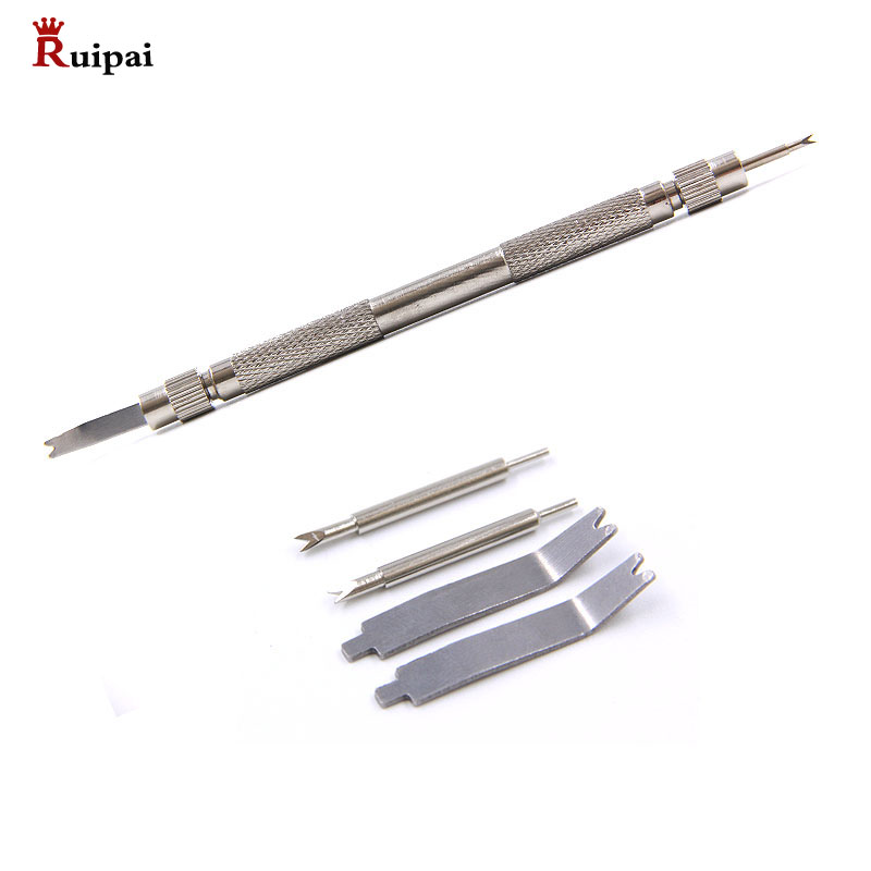Stainless Steel Non-slip Grip Pro Metal Watch Strap Spring Bar Link Pin Remover Repair Tool Kit