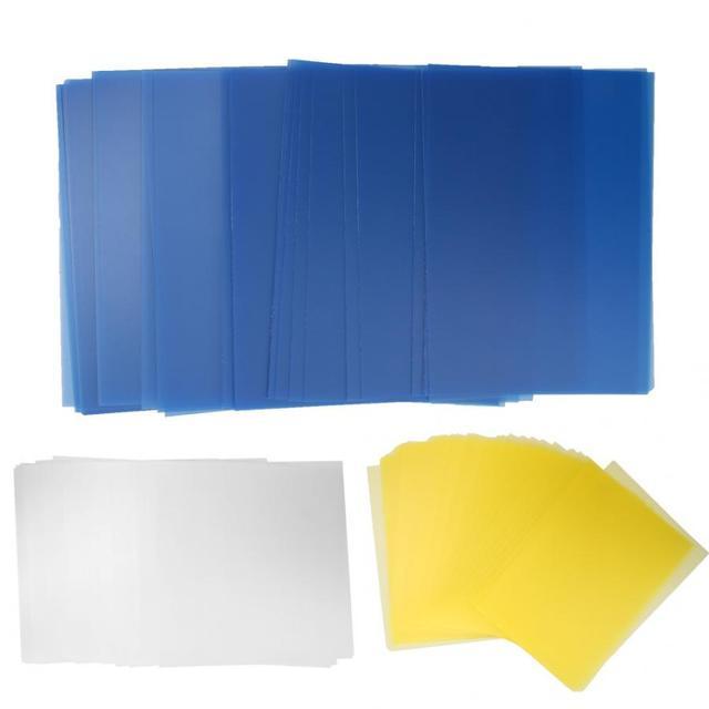 Bộ 50 A5/B5/A4 Nhựa PP Trong Suốt Kết Phim Bao Puncher Tài Liệu Thư Mục Bảo Vệ Bên Trong Giấy Tờ