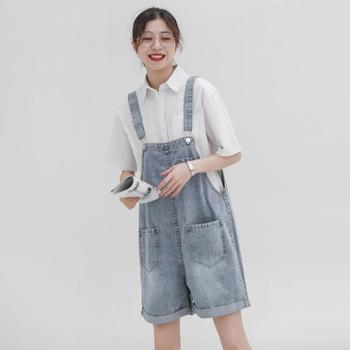 Denim Overalls Women Short Jeans Women Korean High Waist Hot Summer 2020 Loose Rolled Shorts With Pockets boys solid tee with rolled hem jeans