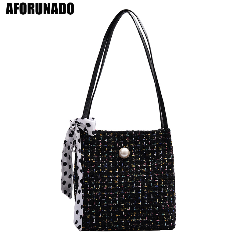 Luxury Handbag Women Bags Designer Pearl Large Square Shoulder Woven Bags High Quality PU Leather Hand Bags For Women 2019