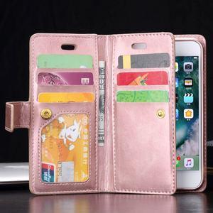 Image 2 - Cho iPhone X Xr Xs Max 12 Mini Vintage Dây Kéo Ví Lật Giá Đỡ Da Cho iPhone 8 7 6 6S 6 Plus 5 5S SE Coque Capa