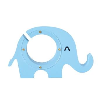 Hucha Elefante Azul Madera