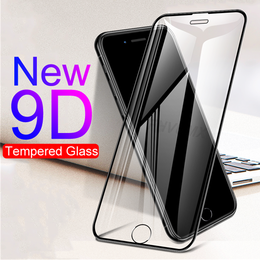 9D Curved Protective Tempered Glass On The For iPhone 6 6s 7 8 Plus X Glass Screen Protector