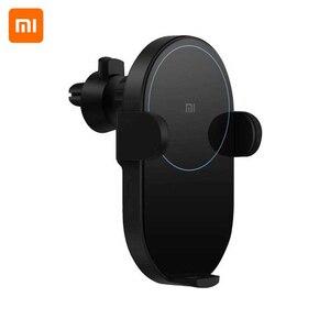 Image 2 - Xiao mi mi 20W Max Qi chargeur de voiture sans fil WCJ02ZM pincement automatique avec capteur infrarouge Intelligent charge rapide support pour téléphone de voiture