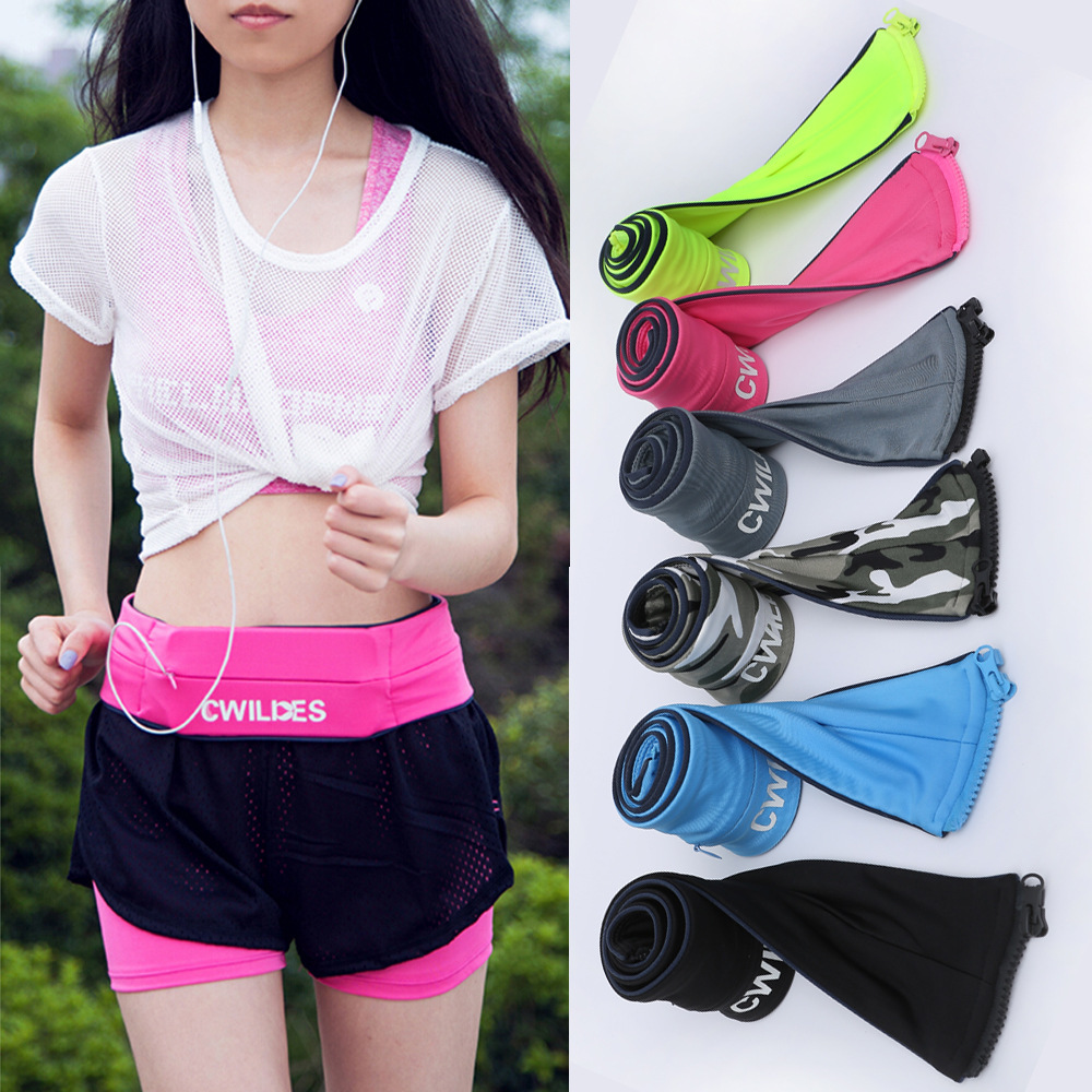 Genuine Product Cwilkes Outdoor Sports Waist Pack Summer Fitness Anti-Theft Hidden Close Fit Waist Bag Mobile Phone Bag