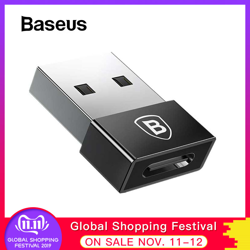 Baseus USB Male To Type C Female Adapter USB C OTG Coverter For Samsung S9 Plus Macbook Xiaomi Mi Max 3 USB Type-C Cable Adapter