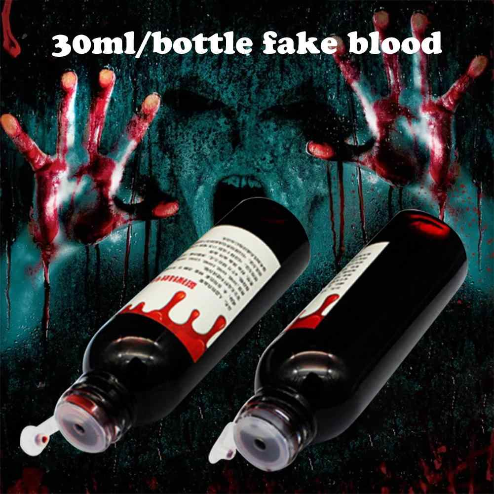 Blood Halloween Fake Wounds Scars Bruises Fake Blood Make Up Body Face Paint Simulation Of Human Vampire Cosplay Ultra-realistic