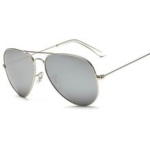 Luxury Brand Unisex Classic Designer Ladies Silver Pilot Sunglasses Polarized UV400 Mirrored Lens Sun Glasses Eyewear Women цена и фото