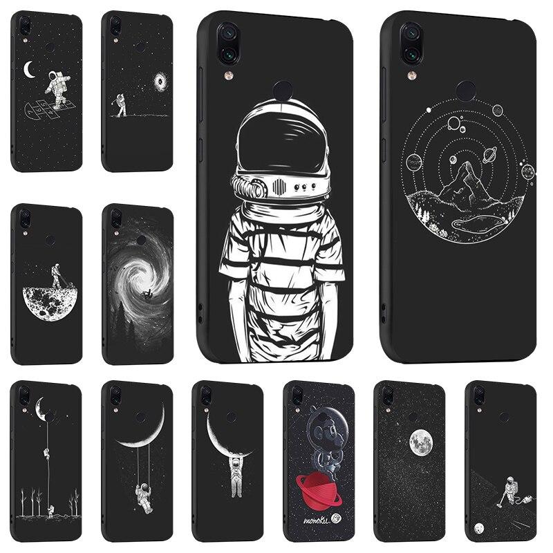 Ojeleye Fashion Black Silicon Case For Xiaomi Redmi 7 Case For Xiaomi Redmi Note 7 8 S2 Note 5 Pro 5a Prime Cover