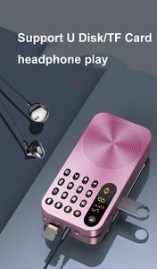 Image 5 - מיני FM רדיו נייד FM מקלט עם LED תצוגת LED אור תמיכת U דיסק TF כרטיס אוזניות לשחק 3600mah נטענת סוללה