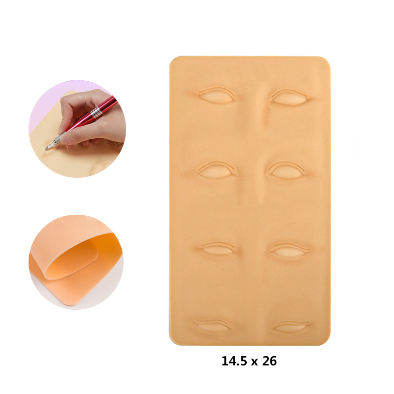 1pcs 3D High Quality Silicone Training Skin Permanent Fake Eyebrow Tattoo Practice for Makeup