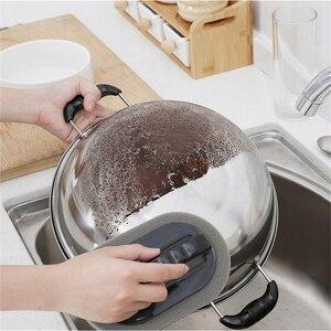 Image 5 - Strong Decontamination Bath Brush Sponge Tiles Brush Hot Sale Magic Strong Decontamination Bath Brush Kitchen Clean Tools