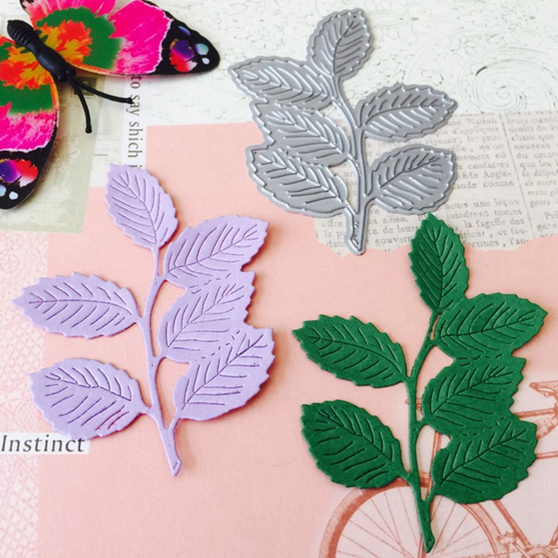 Hojas y Flores Matel corte muere scrapbooking relieve Decoración de Arte de papel