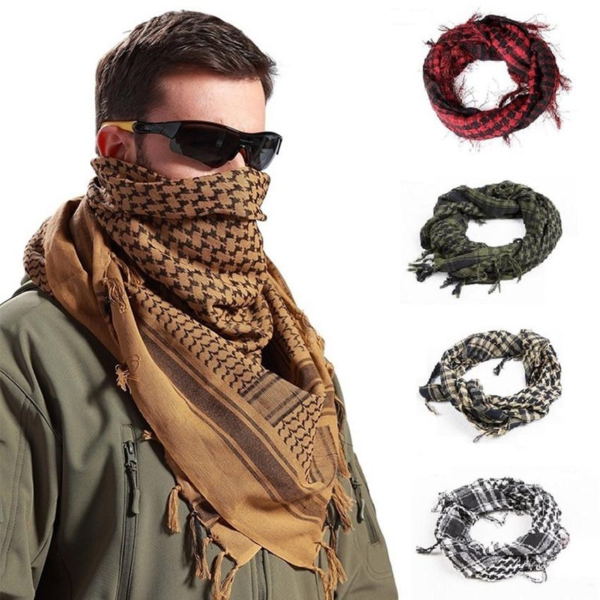 110*110cm Saudi Arab Man Muslim Scarf Keffiyeh Desert Soldier Army Suit Accessories Hijab Islamic Plaid 100% Cotton Neck Scarf