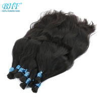 BHF No Weft 100% Human Braiding Hair Bulk Vietnam Remy Straight Bundles Natural Braiding Hair Extensions