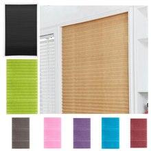 Самоклеющиеся плиссированные жалюзи, занавески, полузатемненные окна для ванной комнаты, балконные Оттенки для гостиной, для дома для окна двери