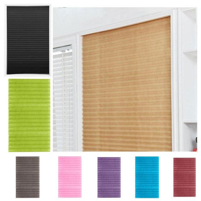 Самоклеющиеся плиссированные жалюзи, занавески, полузатемненные окна для ванной, балконные Оттенки для гостиной, для дома для окна двери