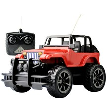 Toys Car, 4-Way Remote Control Car, Big Foot R/C Vehicle, for Boys & Girls (Red & Black)(China)
