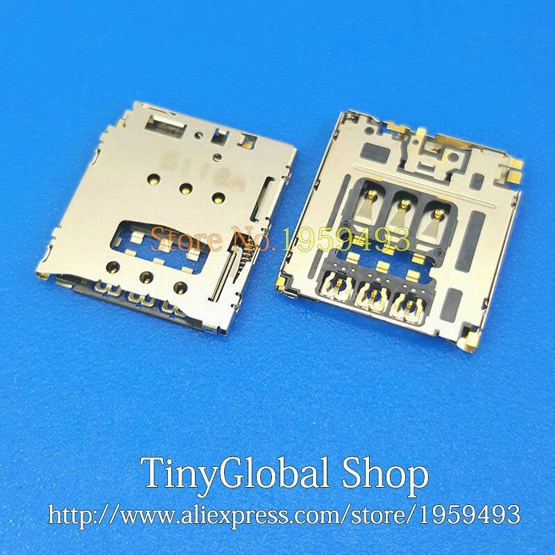 2pcs/lot Coopart New SIM Card Reader Socket Slot Holder Replacement For Blackberry Q5 Z30/ Z10 Q10/ Q20/ 9720 9800
