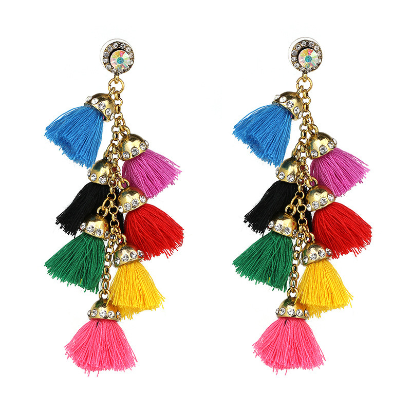 Bohemian Ethnic Spiritual Su Earrings Multilayer Earrings With European And American Wind And Cross-border Hot Selling Earrings