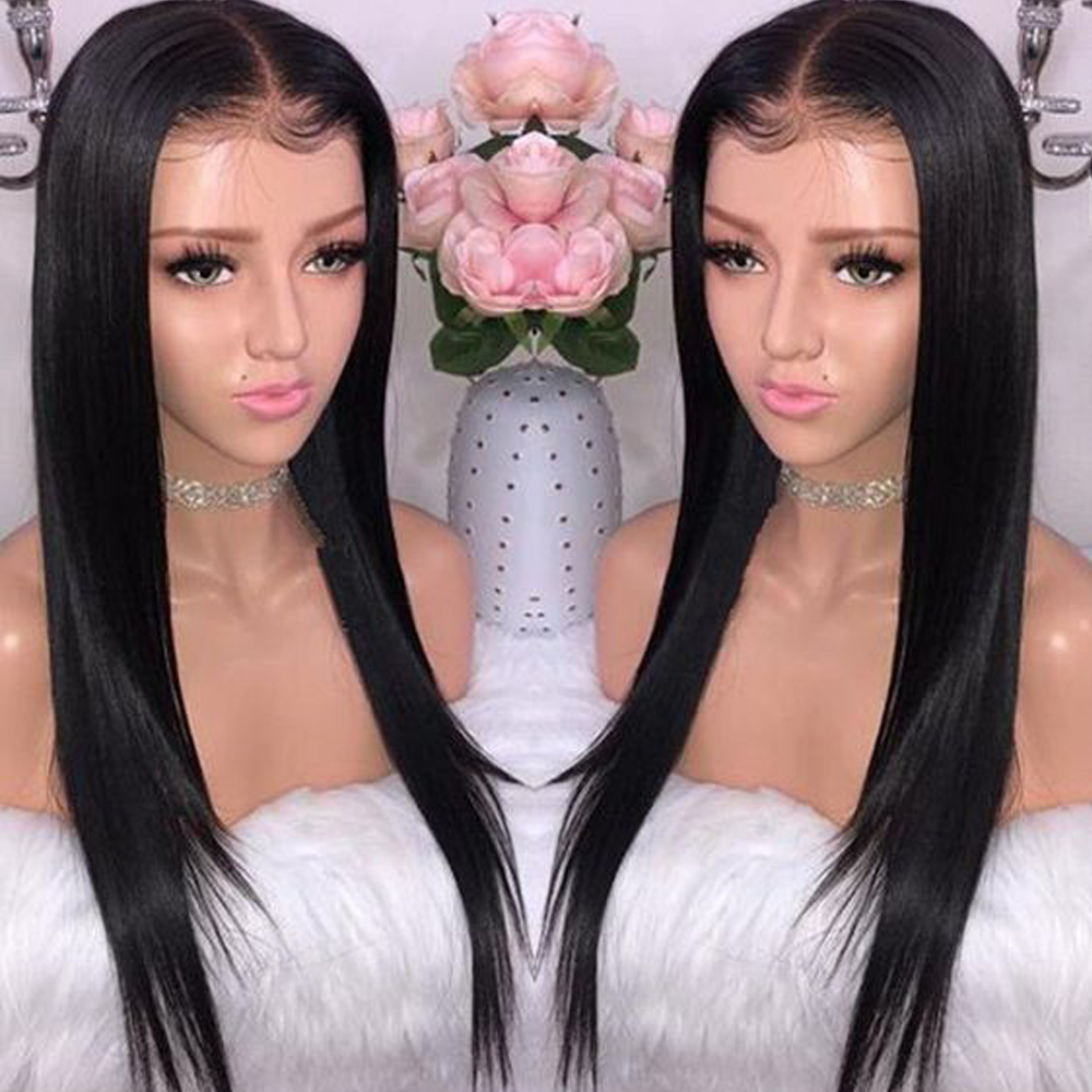 360 Lace Frontal Human Hair Wigs For Women Pre Plucked Hairline With Baby Hair 10-24 Brazilian Straight Hair Bleached Knots