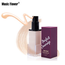 Music Flower Perfect Concealer Foundation Brightens Smooth Skin Moisturizing Face Long-lasting Makeup Base