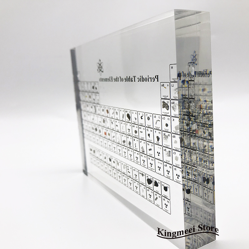 Large Stock Acrylic  Periodic Table  Chemical Periodic Table Acrylic Crystal Physical Periodic Table Gifts  Real Elements inside 3