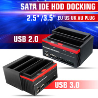 2.5 3.5 USB 3.0 USB 2.0 2 SATA Ports 1 IDE Port External HDD Hard Drive Docking Station Card Reader USB3.0 Hub HDD Enclosure