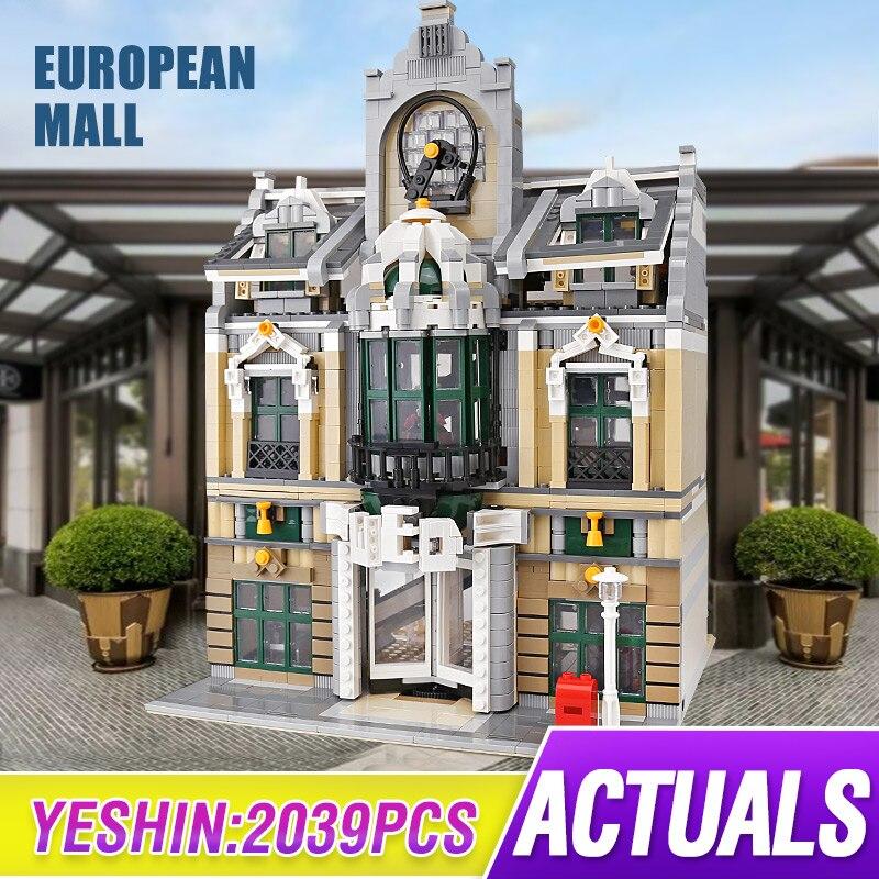 Город МОС Streetview серии Grand Emporium построить свадебный зал модель строительные блоки кирпичи legoing 10211 игрушка Рождественский подарок 14248