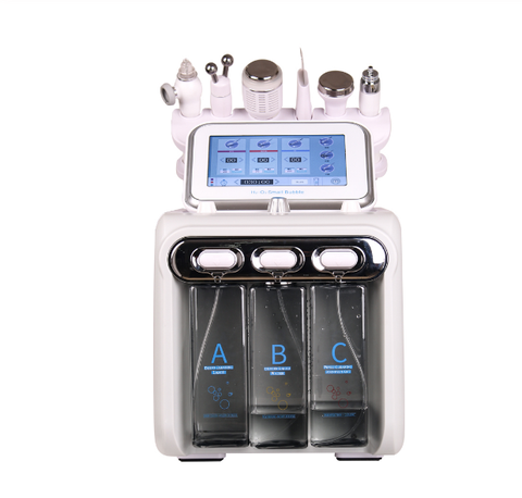 transporte rapido 6 em 1 h2o2 hidra limpeza profunda facial rejuvenescimento da pele do rf