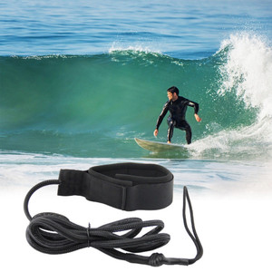 Durable Surfboard Coiled Leash Adjustable Ankle Cuff Surfing Board Rope Leg Foot Leash Sup Surf Board For Stand Up Paddle