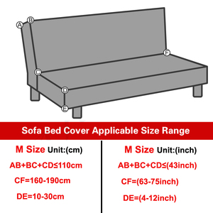Image 4 - Modern Geometric Print Folding Sofa Bed Cover Without Armrest Universal Stretch Couch Cover Furniture Slipcover Sofa Protector