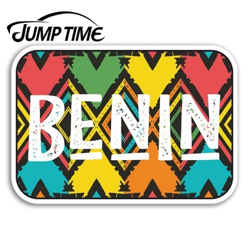 Jump Time Benin Vinyl Stickers Cool Africa Travel Sticker Laptop Luggage Decal Truck Window Car Wrap Car Accessories image
