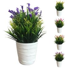 1Pc Potted Artificial Flower Performance Stage Garden Home Party Decor Props Vivid Color Beautiful Non-fading