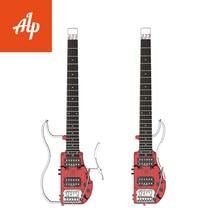 Бесплатная доставка alp гитара безголовая акустическая электрическая