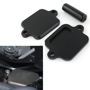 Smog Block Off Plate Cover CNC Billet Aluminum For Kawasaki ZX6R ZX-6R ZX6RR 636 ZX-10R ZX-14R Concours 14 Z800 Z1000 motorcycle accessories wind shield handle brake lever hand guard for kawasaki zx 10r zx 6 zx 6r zr 6r zx 7r zx 12r zx 14r