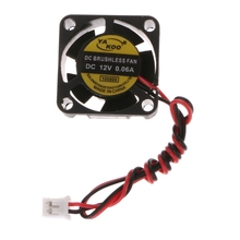 DC 12V 0.06A 2-Pin 25x25x10mm PC Computer CPU System Brushless Cooling Fan 2510