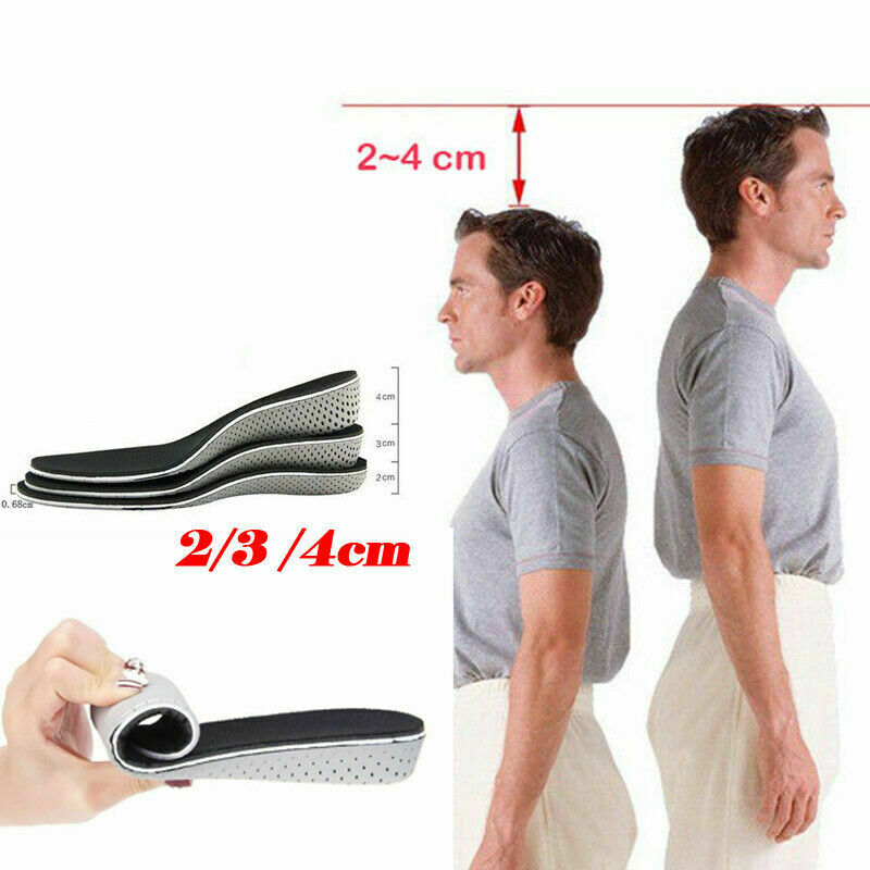 Newest Arrival 2-4CM Air Cushion Invisible Height Increase Insoles Shoe Inserts Pad Taller