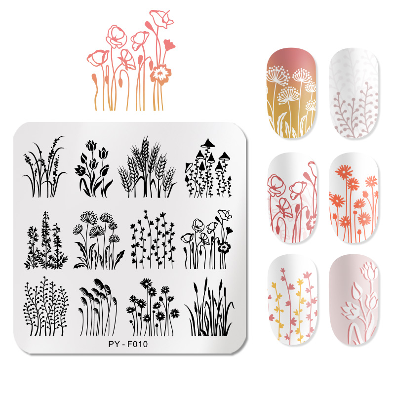 PICT You Fall Patterns Nail Stamping Plates Stencil Stainless Steel Tools Nail Art Stamp Template Design Manicure Plate