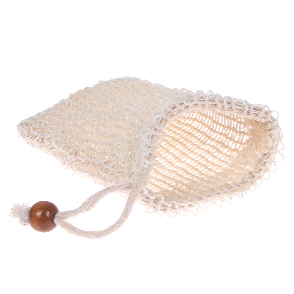 Sisal Soap Bag Ideal for Scraps & Save Soaps, Natural Fiber Soap Bags for Foaming and Drying, soap saver pouch for Shower Bath