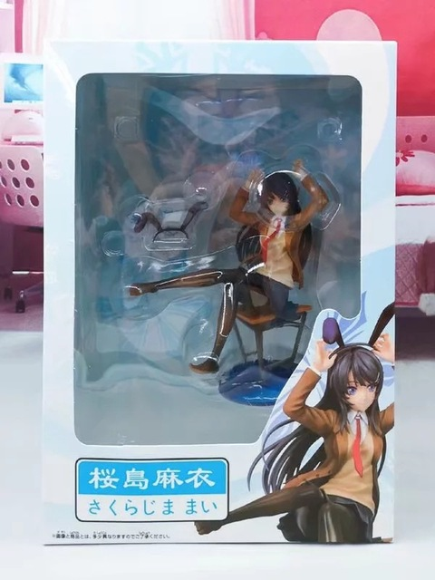 20CM Sakurajima Mai sexy Action Figure PVC Collection Model toys brinquedos for christmas gift